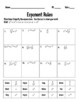 Exponent Rules Practice Pages {Cut N Paste, Coloring, Star Wars Inspired}