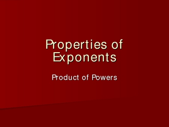 Exponent Rules: Product of Powers