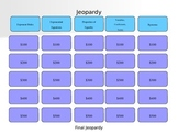 Exponent Rules, Properties of Equality, and Systems of Equations Jeopardy