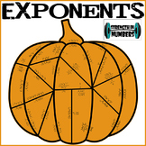 Exponent Rules Fall Pumpkin Puzzle for Display (Thanksgiving)