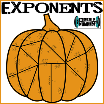 Exponent Rules Fall Pumpkin Puzzle for Display (Halloween)