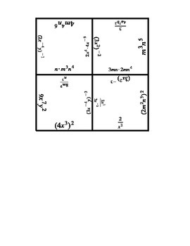 Exponent Rules Puzzle
