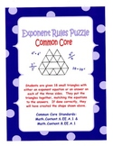 Exponent Rules Puzzle - Common Core