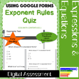 Exponent Rules Quiz using Google Forms