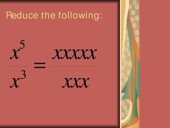 Exponent Rules: Quotient of Powers