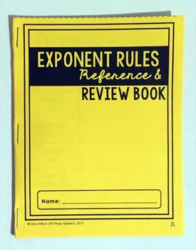 exponent rules review book by all things algebra tpt. Black Bedroom Furniture Sets. Home Design Ideas