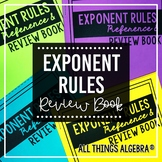 Exponent Rules - Laws of Exponents - Review Book