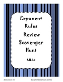 Exponent Rules Review Scavenger Hunt