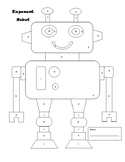 Exponent Rules Robot- Color by Number
