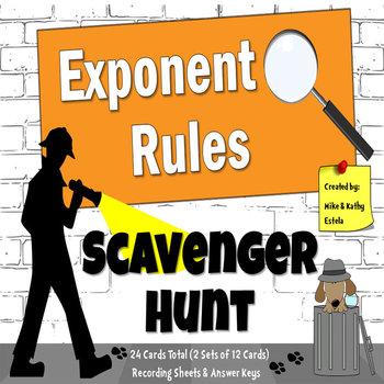 Exponent Rules {Scavenger Hunt}