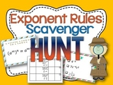 Exponent Rules Scavenger Hunt