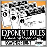 Exponent Rules Scavenger Hunt