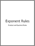 Exponent Rules Gallery Walk