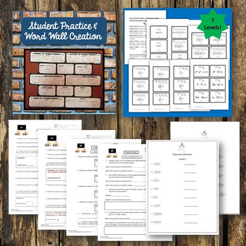 Exponent Rules Scientific Notation Activities BUNDLE