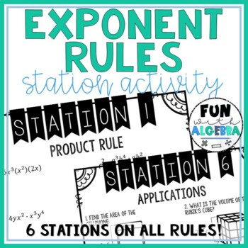 Exponent Rules Station Activity