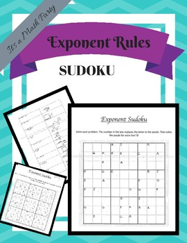 Exponent Rules Sudoku