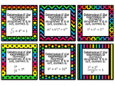 Exponent Rules Task Cards