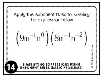 Exponent Rules