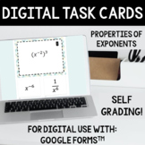 Properties of Exponents Task Cards MIXED