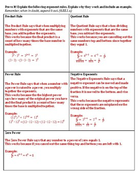 Exponent Rules Test