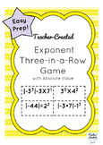 Exponent Rules Three-In-A-Row Game