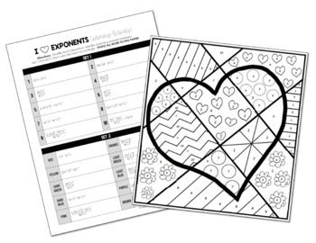 exponent rules coloring activity by all things algebra tpt. Black Bedroom Furniture Sets. Home Design Ideas