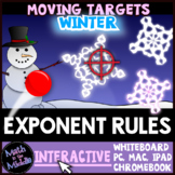 Exponent Rules Winter Themed Moving Targets Interactive Review Game