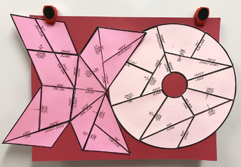 Exponent Rules XO Valentine's Day TWO Puzzles for Display
