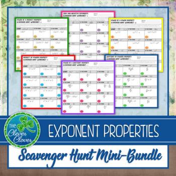 Exponent Properties - Scavenger Hunts