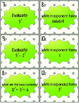 Exponent Scoot Task Cards and Answer Key