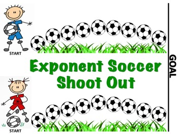 Exponent Soccer Shoot Out - A 2-Player Game to Solve Numbers with Exponents