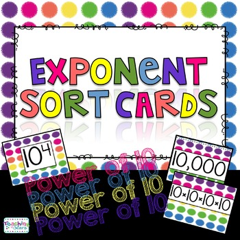 Exponent Sort Cards