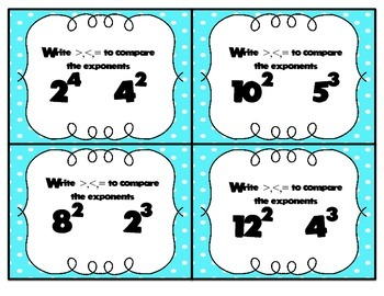 Exponent Task Cars