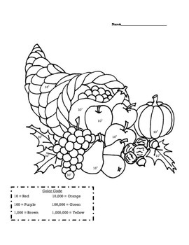Exponent Thanksgiving Coloring Packet