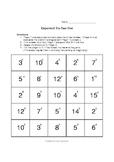 Exponent - Tic-Tac-Toe Game / Activity (math)