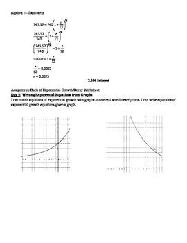 Exponent Unit- Lesson Plans with examples