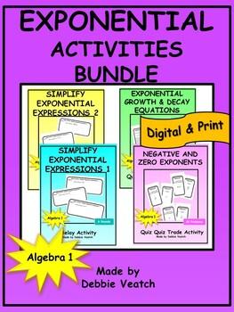 Exponential Activities Bundle
