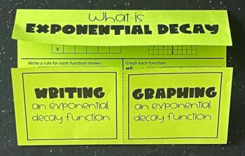 Exponential Decay Functions (Algebra Foldable)
