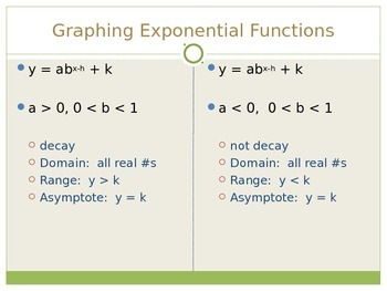 Exponential Decay Models