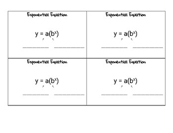 Exponential Equation Notecard