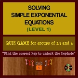 Exponential Equations (Level 1) - Group Activity (48 equations)