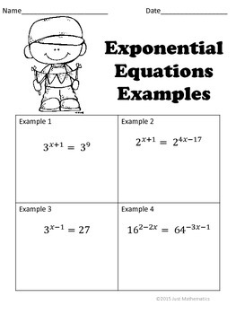 Exponential Equations: No Prep Lesson
