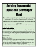 Exponential Equations Scavenger Hunt