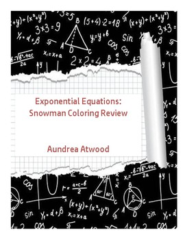 Exponential Equations: Snowman Coloring