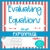 Exponential Equations- Solving Without Logs Bingo