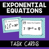 Exponential Equations Activity - Task Cards