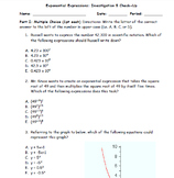 Exponential Expressions Assessment