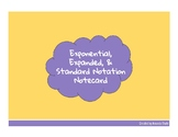 Exponential Form, Expanded Form, and Standard Notation Notecard
