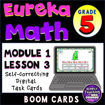 Exponential Form and Standard Form Digital Boom Cards Powers of 10