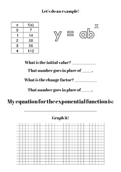Exponential Function Guided Notes
